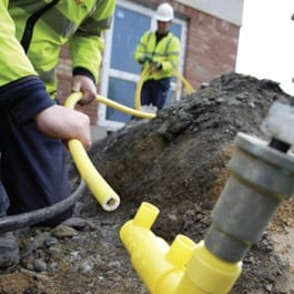 galway daily, workmen fix a gas leak in galway and mayo