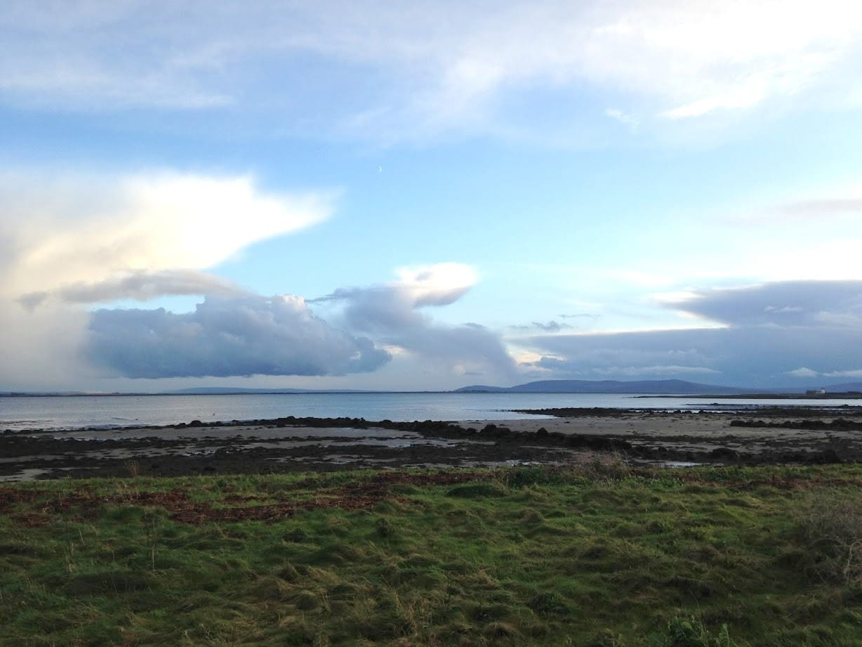 View across Galway Bay from the swamp