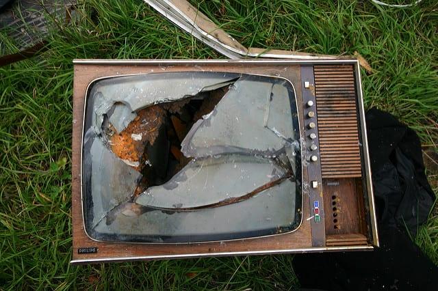 unresponsive burglar television