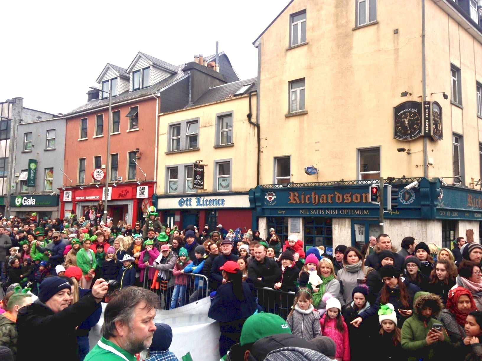 St. Patrick's Day Parade crowd
