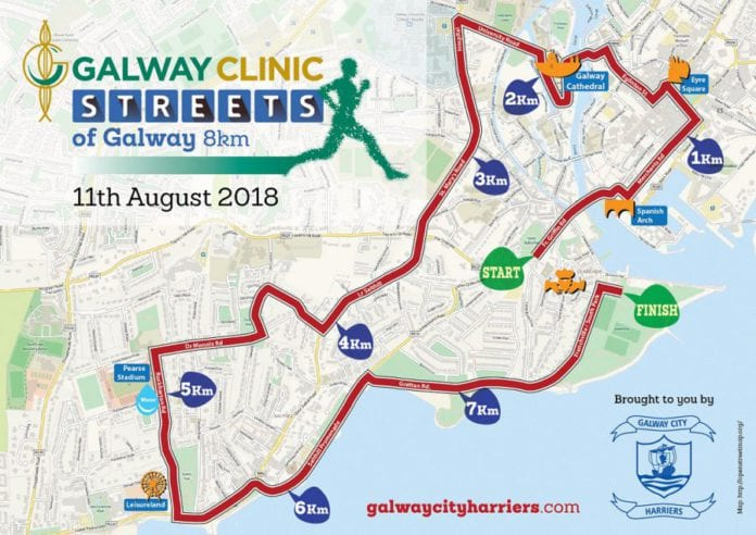 Galway daily sport streets of Galway 8km kicking off tomorrow
