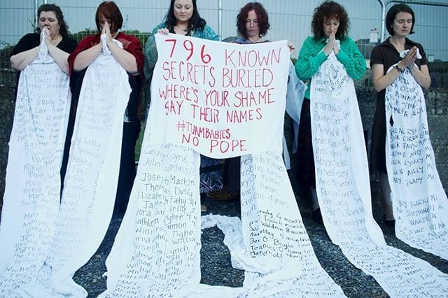 Galway daily news local women sew list of Tuam babies to fencing at site