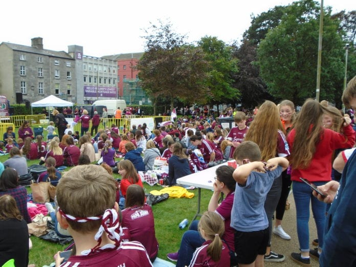 Galway daily sport crowds in eyre square as Galway minors defend title