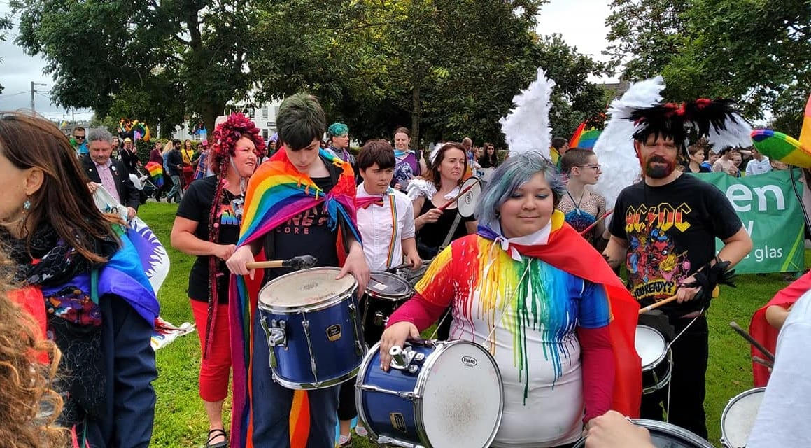 Drummers at Galway Pride - Photo by Avi Ratnayake