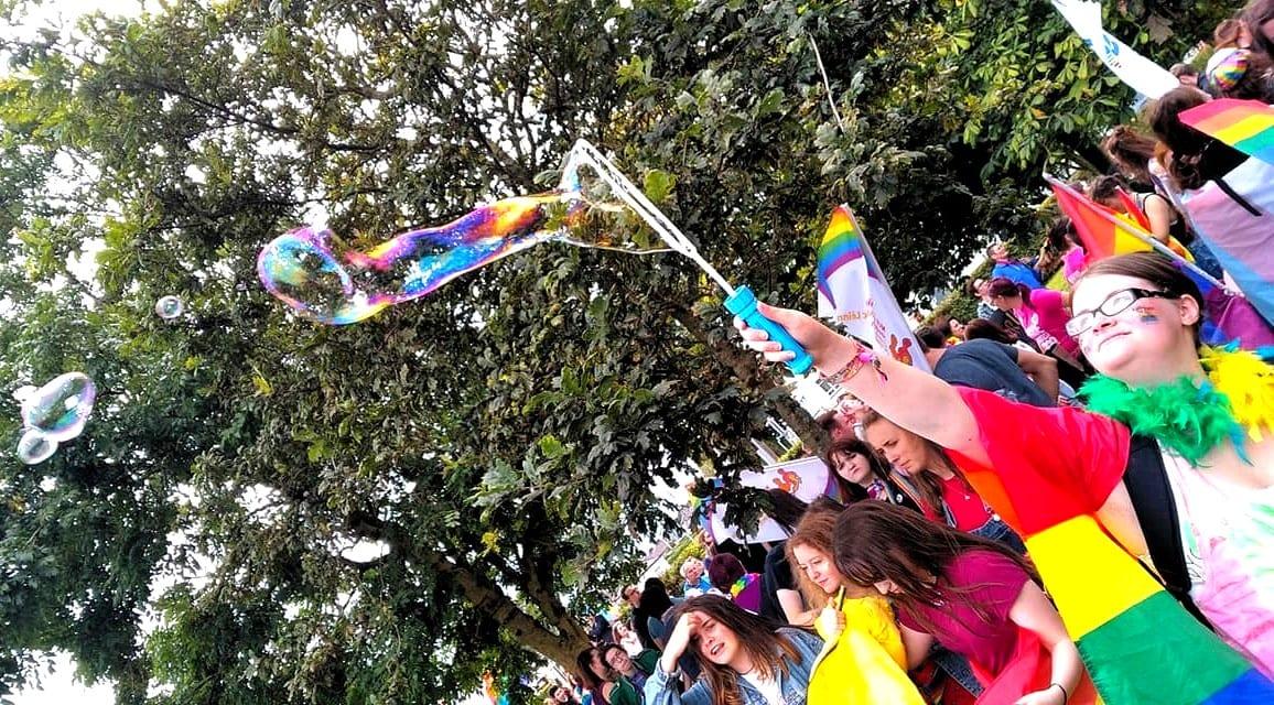 Bubbles at Galway Pride - Photo by Avi Ratnayake