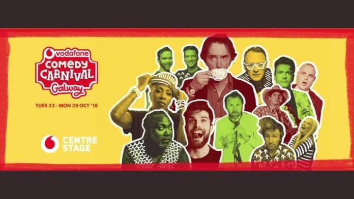Fuiriseoirí a bheas ag an Vodafone Comedy Carnival ainmnithe