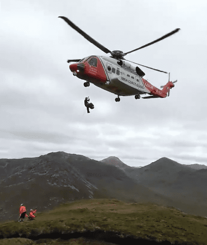 Galway daily news Galway Mountain rescue airlift french hiker off Diamond Hill