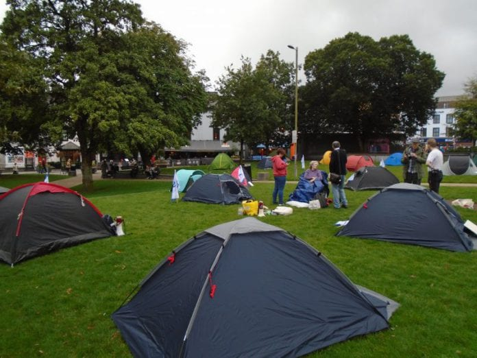 Galway Daily news Students fill Eyre Square for Crisis Campout