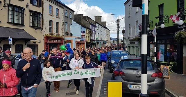 Galway Daily news Thousands attend rally in Tuam in support of Quiet Man greenway