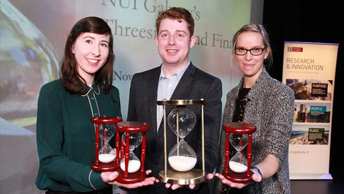 Galway Daily news bite sized talk on funding brain tumours with sound winds Threesis competition at NUI Galway