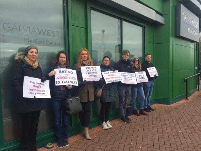Galway Daily news Calls for exclusion zones after anti-abortion protest at Galway clinic