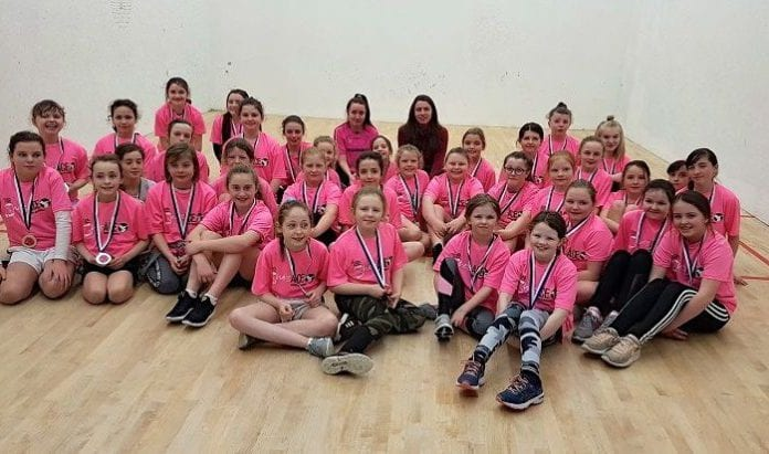 Galway Daily sport Over 100 girls turn out for inaugural She's Ace handball event
