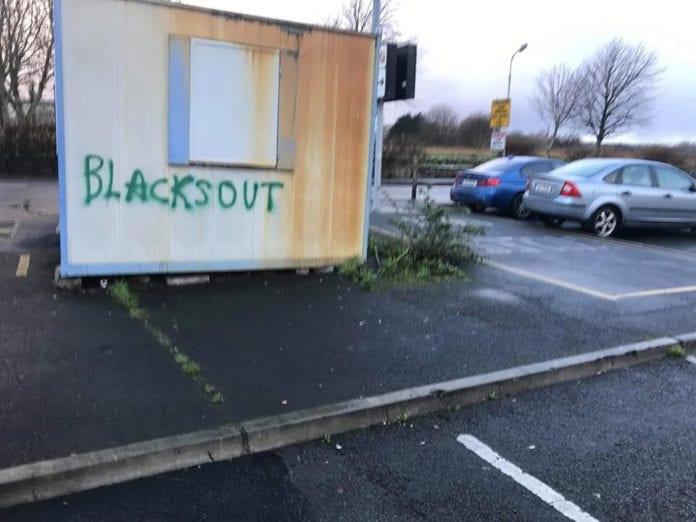 blacks out graffiti galway city racism news
