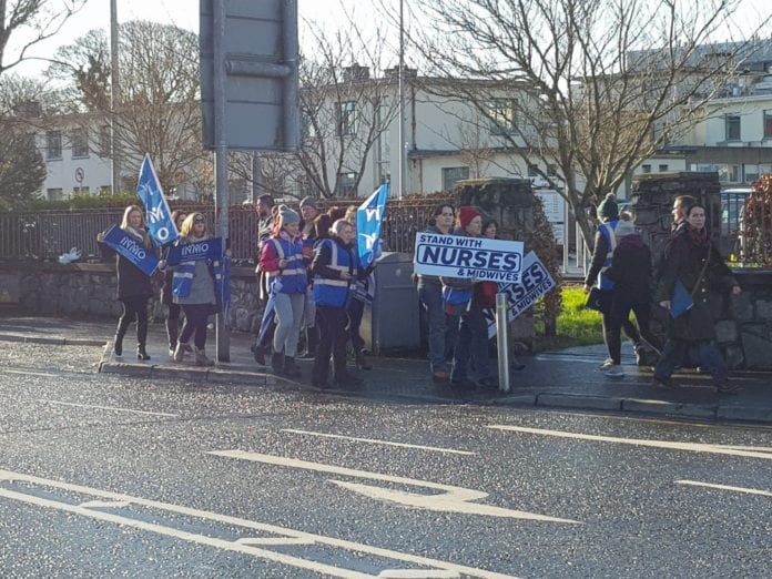 Galway daily news Nurses and midwives strike at UHG over pay