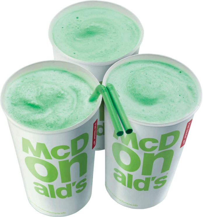 Galway Daily life & style McDonald's brings back the Shamrock shake ahead of St Patrick's Day