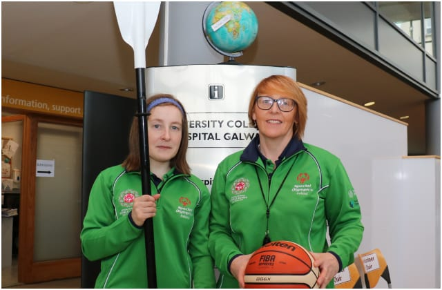 Galway Daily news UHG staff taking part in Abu Dhabi Special Olympics