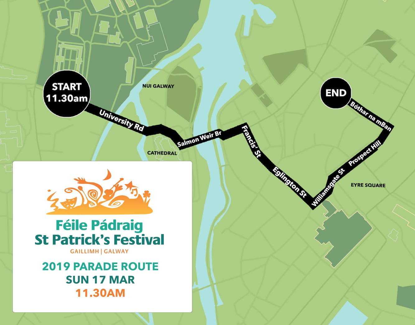 Galway Daily new St Patrick's Day parade route