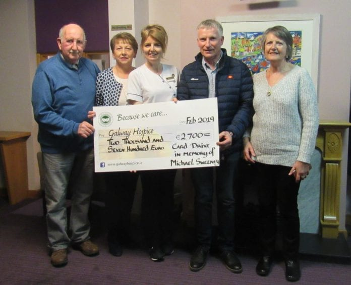 Galway Daily news Memorial event for Michael Sweeney raises €2,700 for Galway Hospice