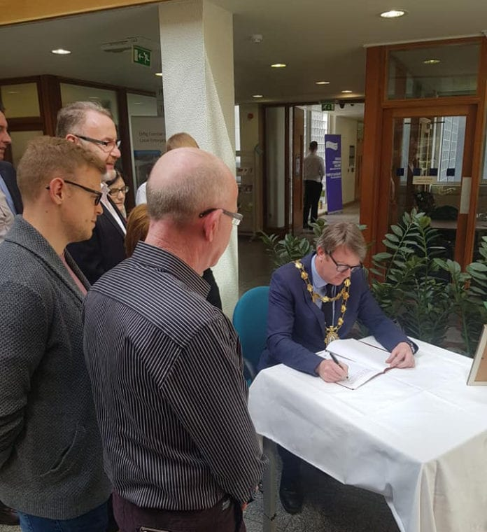 Galway Daily news Book of Condolence for Lyra McKee