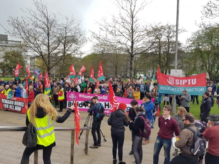 Galway Daily news Demonstrators Raise the Roof at Rally against housing crisis