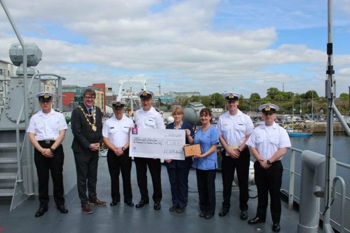 Galway Daily news Navy ship's crew raises €1,500 for UHG Children's Ward