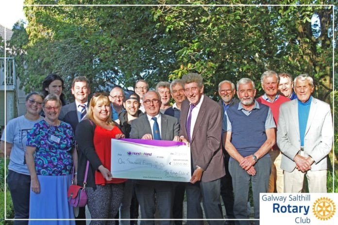 Galway daily news Salthill Rotary Club raises €1000 for children's cancer support