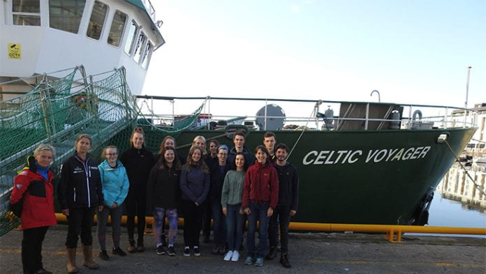 Galway Daily news NUIG students aboard the Celtic Explorer for Ocean Sampling Day