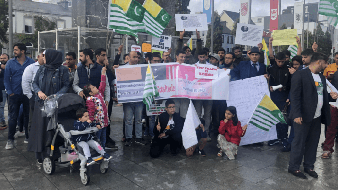 Galway Daily news Eyre Square protest against ongoing Kashmir crisis