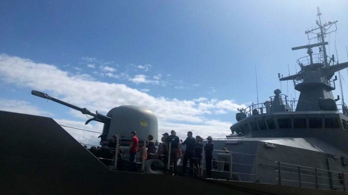 Galway Daily news 3,000 people come to tour navy ship in Galway