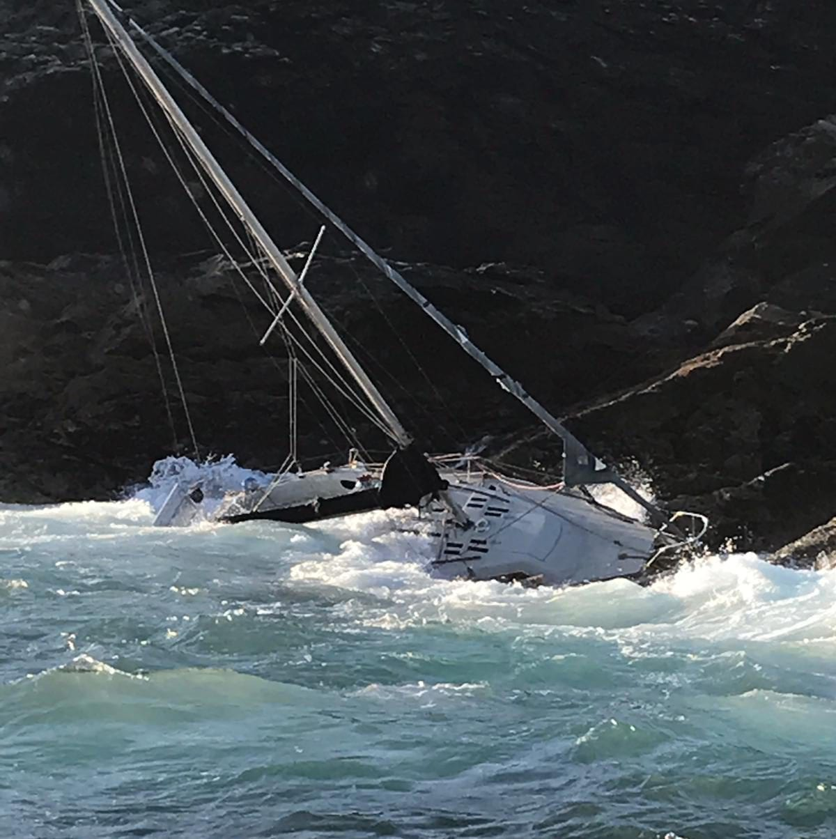 shipwrecked yacht