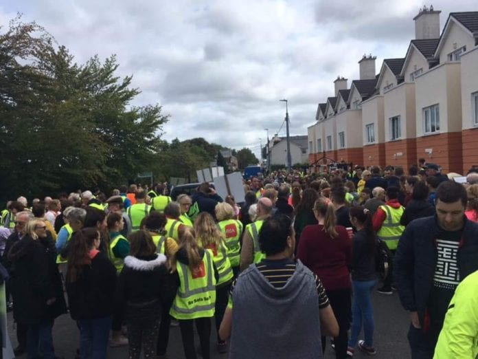 Galway Daily news Over 1,000 march in Oughterard