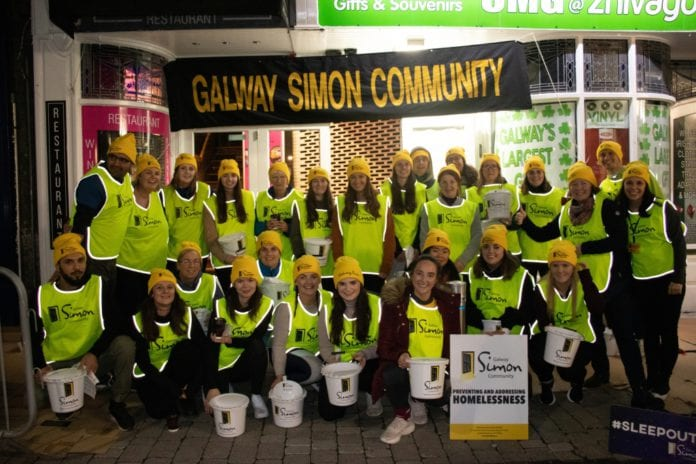 Galway Daily news Galway Simon Sleep Out raises over €70,000 to fight homelessness