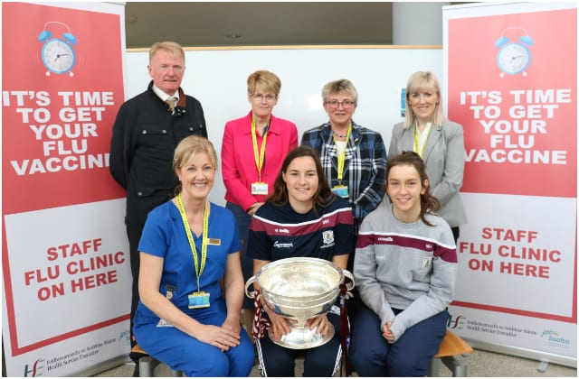 Galway Daily news Galway camogie team kick off flu vaccine campaign