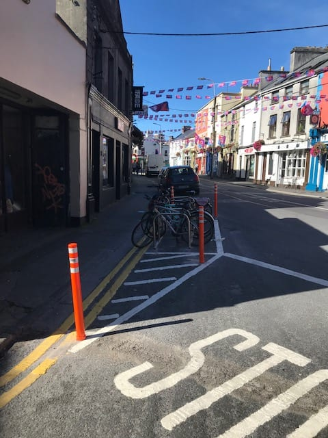 galway daily cycle parking spaces cycling bikes council