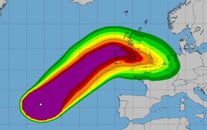 Galway Daily news status orange weather warning for Storm Lorenzo