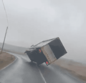 Galway Daily news truck overturns at Maam Cross in Storm Jorge