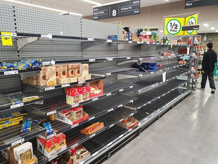 galway daily shelves panic-buy hse supermarkets