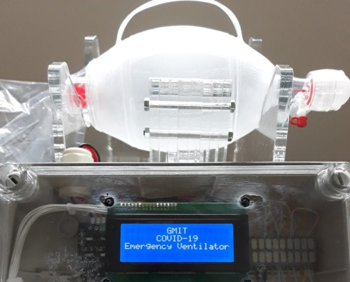 Galway Daily news GMIT develops low cost emergency ventilator