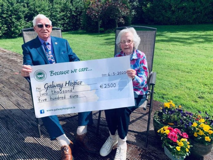 Galway Daily news Happy couple raise €2,500 for Galway Hospice on 65th wedding anniversary
