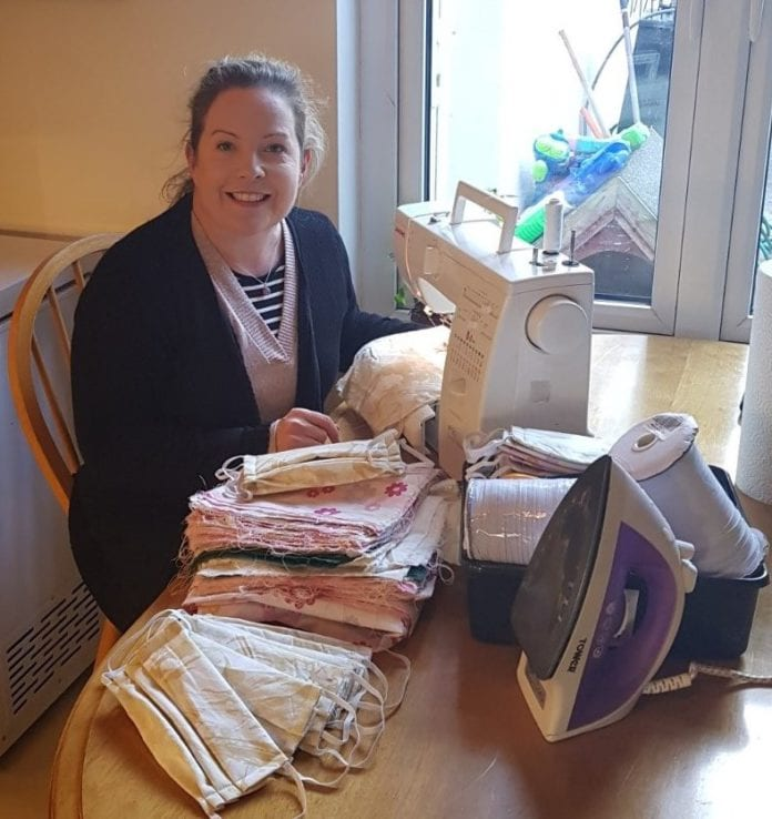 Galway Daily news GMIT staff member makes hundreds of reusable face coverings for nursing homes