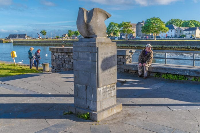 galway daily columbus monument