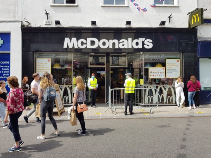 Galway Daily food & drink Shop Street McDonald's reopens for takeaways