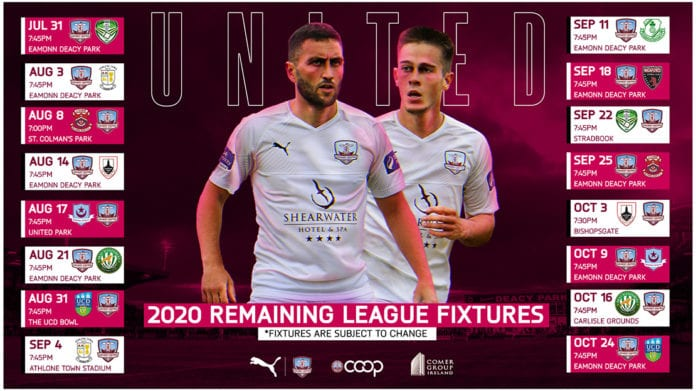 Galway Daily soccer Galway United resuming season with home game this month