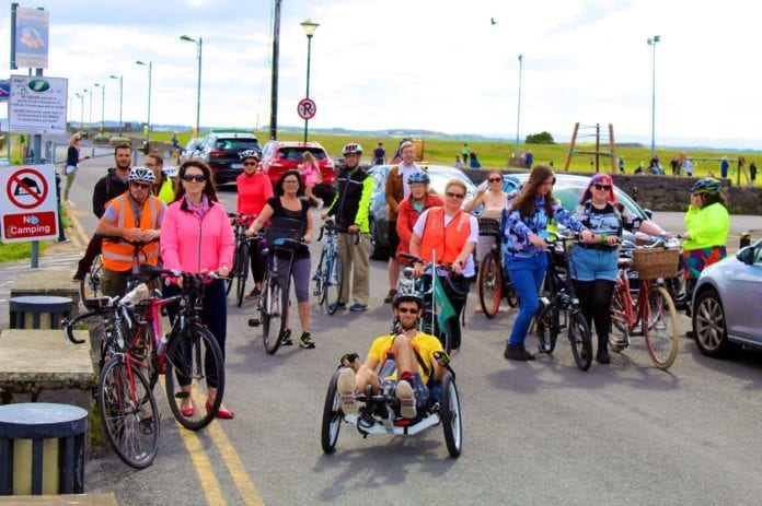 galway daily cycling campaign event obstacle