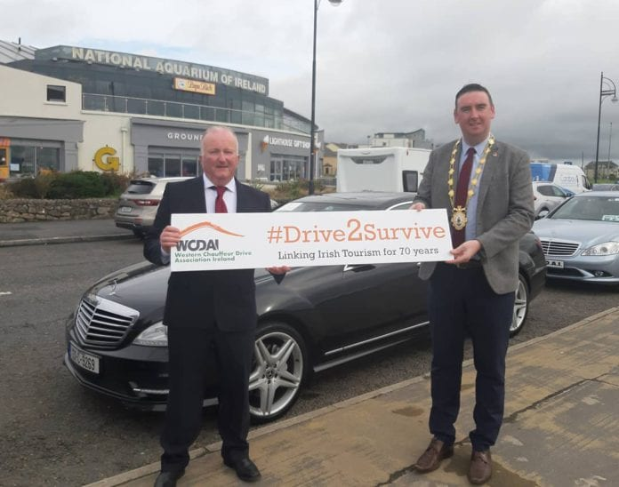 Galway Daily news Mayor Cubbard support chauffeurs in three day Drive2Survive