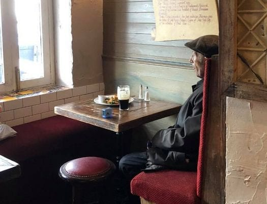 galway daily man alone in pub in ireland 2020 pint of guinness covid-19