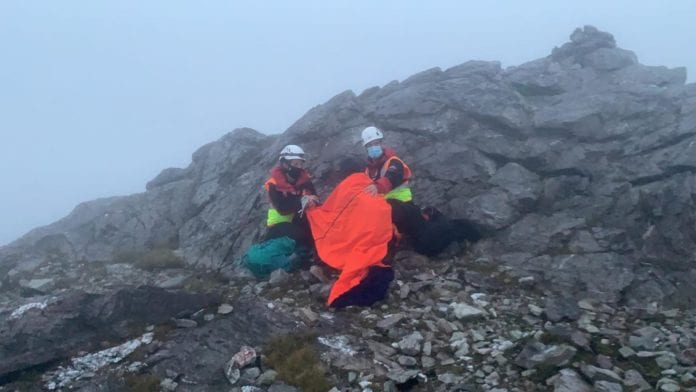 Galway Daily news Hillwalker rescued from Twelve Bens during weather warning by Galway Mountain Rescue