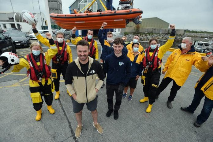 Galway Daily news Mayoral reception for hero fishermen Patrick and Morgan Oliver