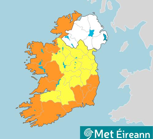 Orange warning as Storm Aiden to bring
