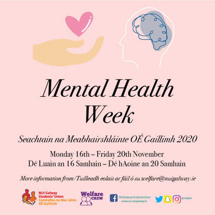 galway daily news students union nuig mental health week